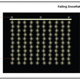 Falling Snowflake String Lights