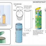Decorative Toilet Tissue Storage Unit